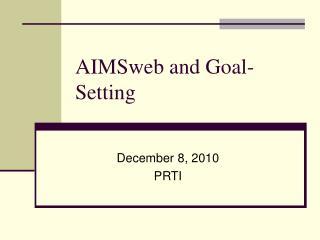 AIMSweb and Goal-Setting