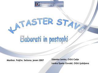 KATASTER STAVB