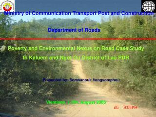 Ministry of Communication Transport Post and Construction