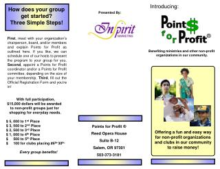Offering a fun and easy way for non-profit organizations and clubs in our community to raise money