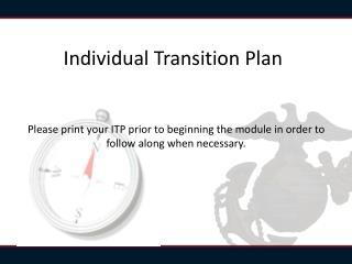 Individual Transition Plan