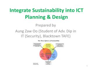 Integrate Sustainability into ICT Planning  Design