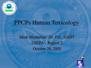 PPCPs Human Toxicology