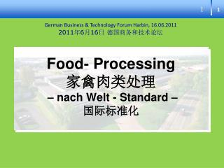 Food- Processing      nach Welt - Standard