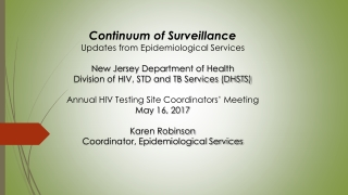 Technical Guidance for HIV Surveillance Programs: HIV Incidence Surveillance