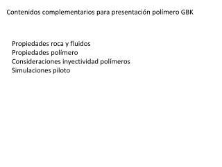 Contenidos complementarios para presentaci n pol mero GBK