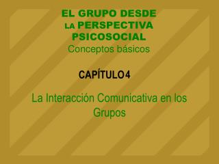 La Interacci n Comunicativa en los Grupos