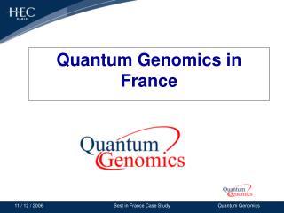 Quantum Genomics in France