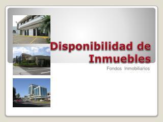 Disponibilidad de Inmuebles