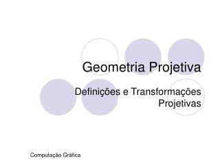 Geometria Projetiva