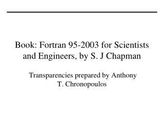 FORTRAN 95 PROGRAMMING