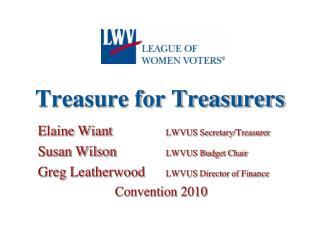 Treasure for Treasurers