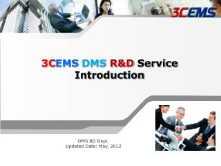 3CEMS DMS RD Service Introduction