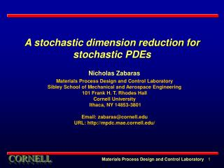 A stochastic dimension reduction for stochastic PDEs