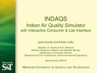 INDAQS Indoor Air Quality Simulator with Interactive Consumer  Lab Interface