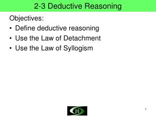 2-3 Deductive Reasoning