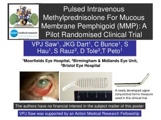 Pulsed Intravenous Methylprednisolone For Mucous Membrane Pemphigoid MMP: A Pilot Randomised Clinical Trial