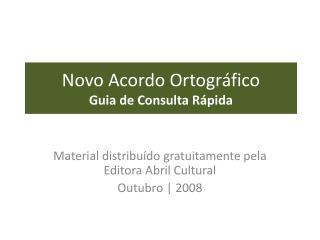Novo Acordo Ortogr fico Guia de Consulta R pida