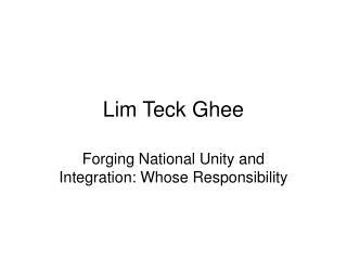 Lim Teck Ghee