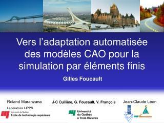 Vers l adaptation automatis e des mod les CAO pour la simulation par  l ments finis