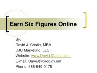 Earn Six Figures Online