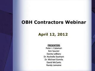 OBH Contractors Webinar