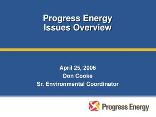 Progress Energy Issues Overview