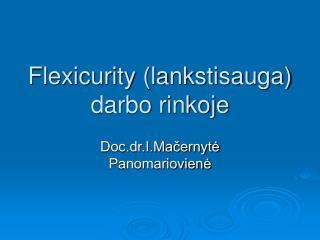 Flexicurity lankstisauga darbo rinkoje