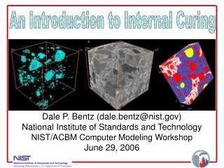 Dale P. Bentz dale.bentznist National Institute of Standards and Technology NIST