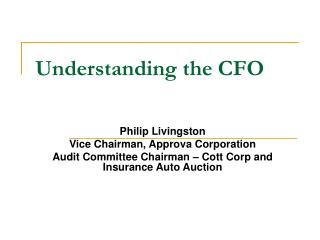 Understanding the CFO