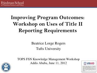Improving Program Outcomes: Workshop on Uses of Title II Reporting Requirements