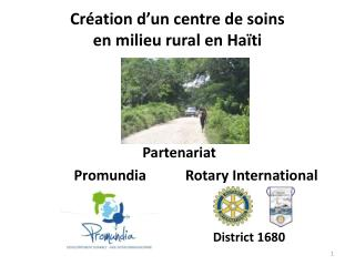 Cr ation d un centre de soins en milieu rural en Ha ti