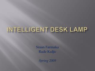 Intelligent Desk Lamp