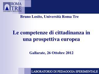 Bruno Losito, Universit  Roma Tre