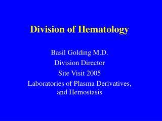 Division of Hematology