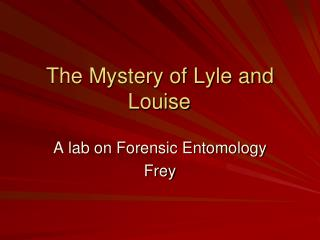 The Mystery of Lyle and Louise