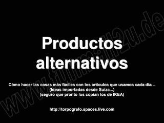 Productos alternativos  C mo hacer las cosas m s f ciles con los art culos que usamos cada d a  Ideas importadas desde S