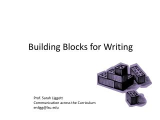 Building Blocks for Writing