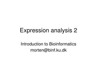 Expression analysis 2