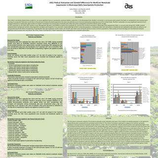 2011 Product Evaluation and Varietal Differences for Reniform Nematode  Suppression in Mississippi Delta Sweetpotato Pro