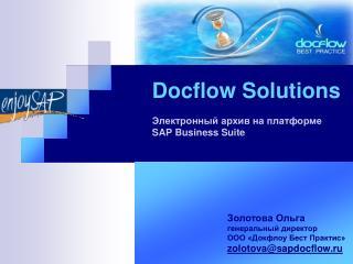 Docflow Solutions        SAP Business Suite