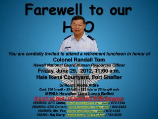 Farewell to our HRO