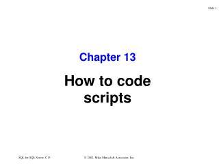 SQL for SQL Server, C13