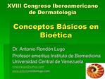 Conceptos B sicos en  Bio tica