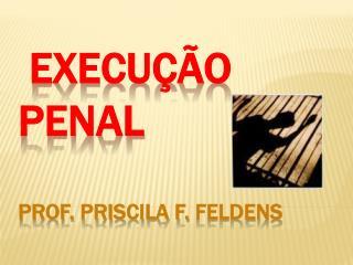 Execu  o Penal  Prof. PRISCILA f. fELDENS