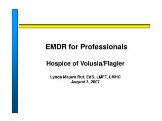 EMDR for Professionals   Hospice of Volusia