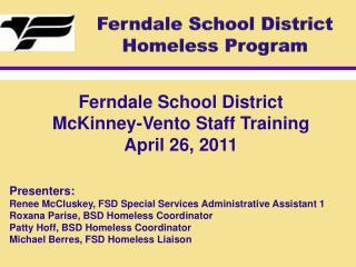 Ferndale School District Homeless Program