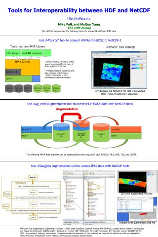 Tools for Interoperability between HDF and NetCDF