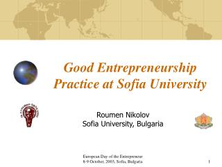 Good Entrepreneurship Practice at Sofia University