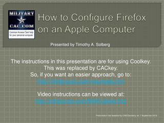 How to Configure Firefox on an Apple Computer